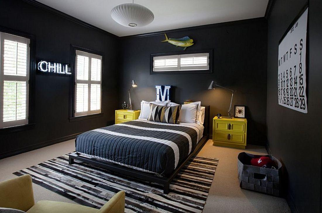 Masculine And Modern Man Bedroom Design Ideas 36
