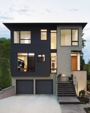 Modern Homes Decorating With Black Exteriors 19