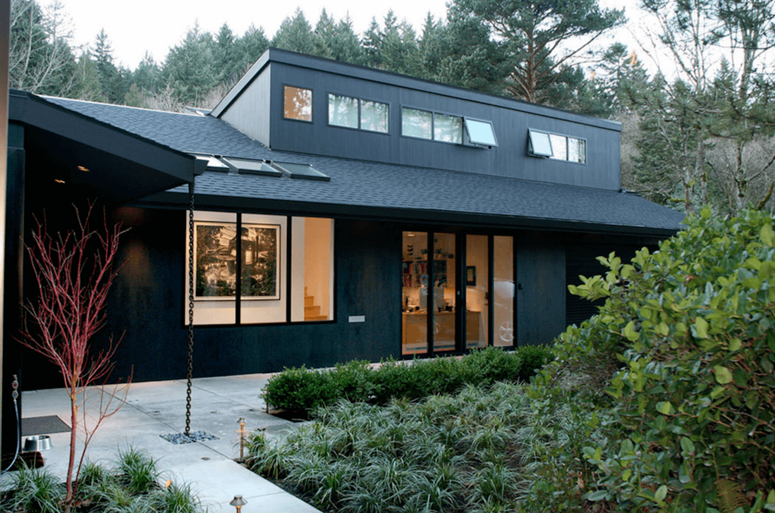 Modern Homes Decorating With Black Exteriors 31