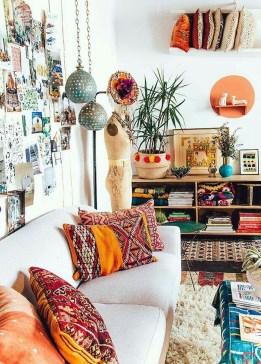 Stunning Bohemian Living Room Design Ideas 08