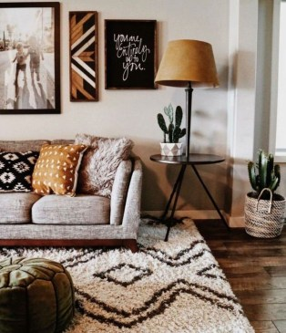 Stunning Bohemian Living Room Design Ideas 10