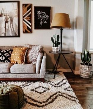 Stunning Bohemian Living Room Design Ideas 10