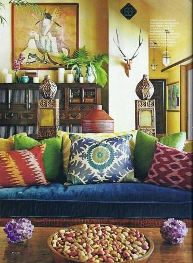 Stunning Bohemian Living Room Design Ideas 27