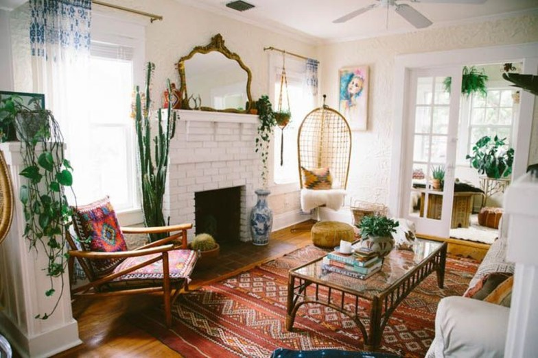 Stunning Bohemian Living Room Design Ideas 28
