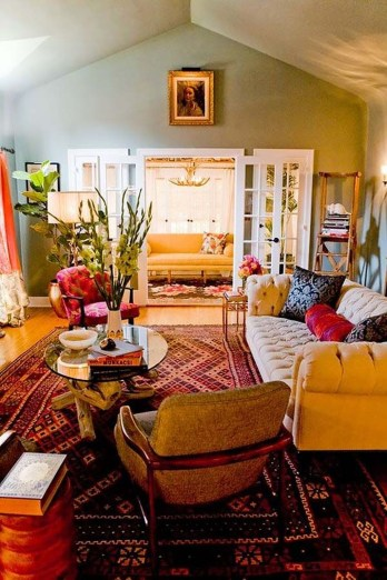 Stunning Bohemian Living Room Design Ideas 29