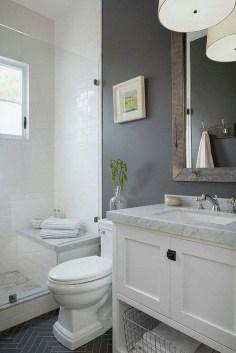 Stylish Small Master Bathroom Remodel Design Ideas 05