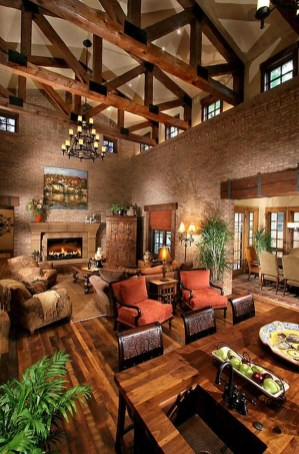 Amazing Lodge Living Room Decorating Ideas 06