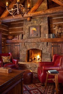 Amazing Lodge Living Room Decorating Ideas 21