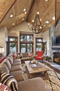 Amazing Lodge Living Room Decorating Ideas 27