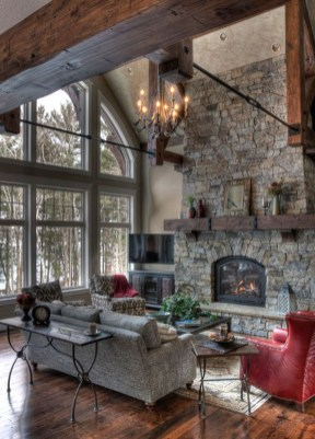 Amazing Lodge Living Room Decorating Ideas 32