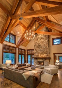 Amazing Lodge Living Room Decorating Ideas 35