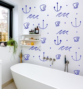 Beautiful Bathroom Decoration In A Coastal Style Decor 02