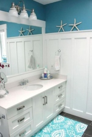 Beautiful Bathroom Decoration In A Coastal Style Decor 11