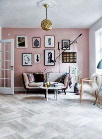 Cute Pink Lving Room Design Ideas 02