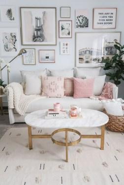 Cute Pink Lving Room Design Ideas 08