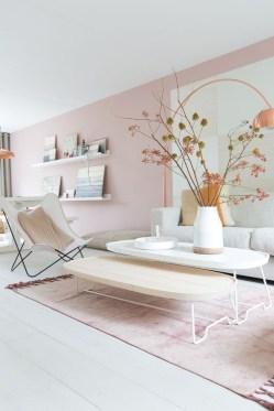 Cute Pink Lving Room Design Ideas 09