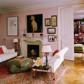 Cute Pink Lving Room Design Ideas 13