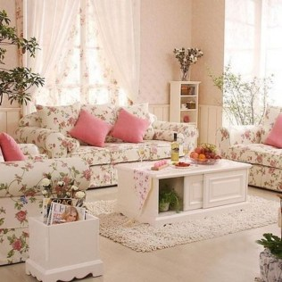 Lovely Shabby Chic Living Room Design Ideas 08