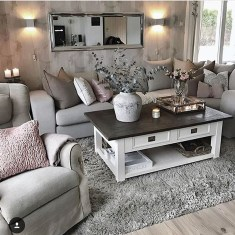 Lovely Shabby Chic Living Room Design Ideas 10