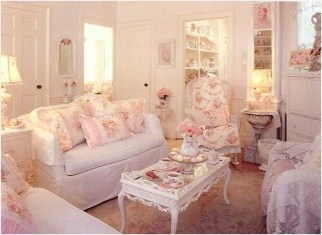 Lovely Shabby Chic Living Room Design Ideas 13