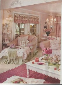 Lovely Shabby Chic Living Room Design Ideas 37