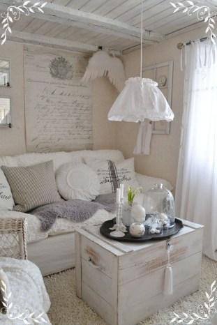 Lovely Shabby Chic Living Room Design Ideas 42