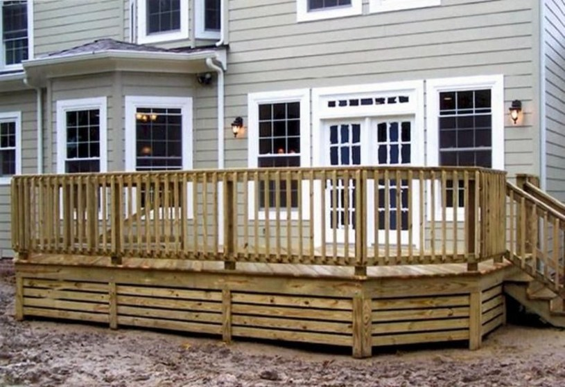 Easy DIY Wooden Deck Design For Your Home 25
