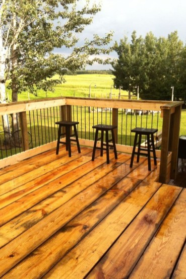 Easy DIY Wooden Deck Design For Your Home 43