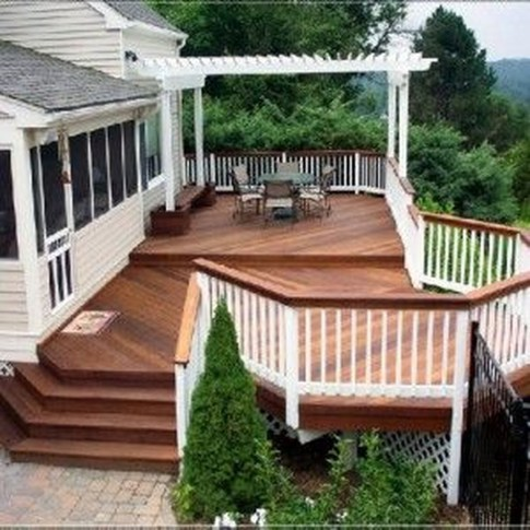 Easy DIY Wooden Deck Design For Your Home 47