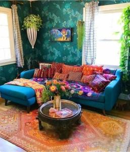 Elegant Bohemian Style Living Room Decoration Ideas 14