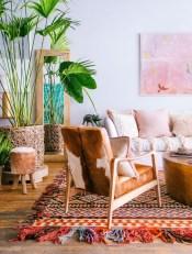 Elegant Bohemian Style Living Room Decoration Ideas 28
