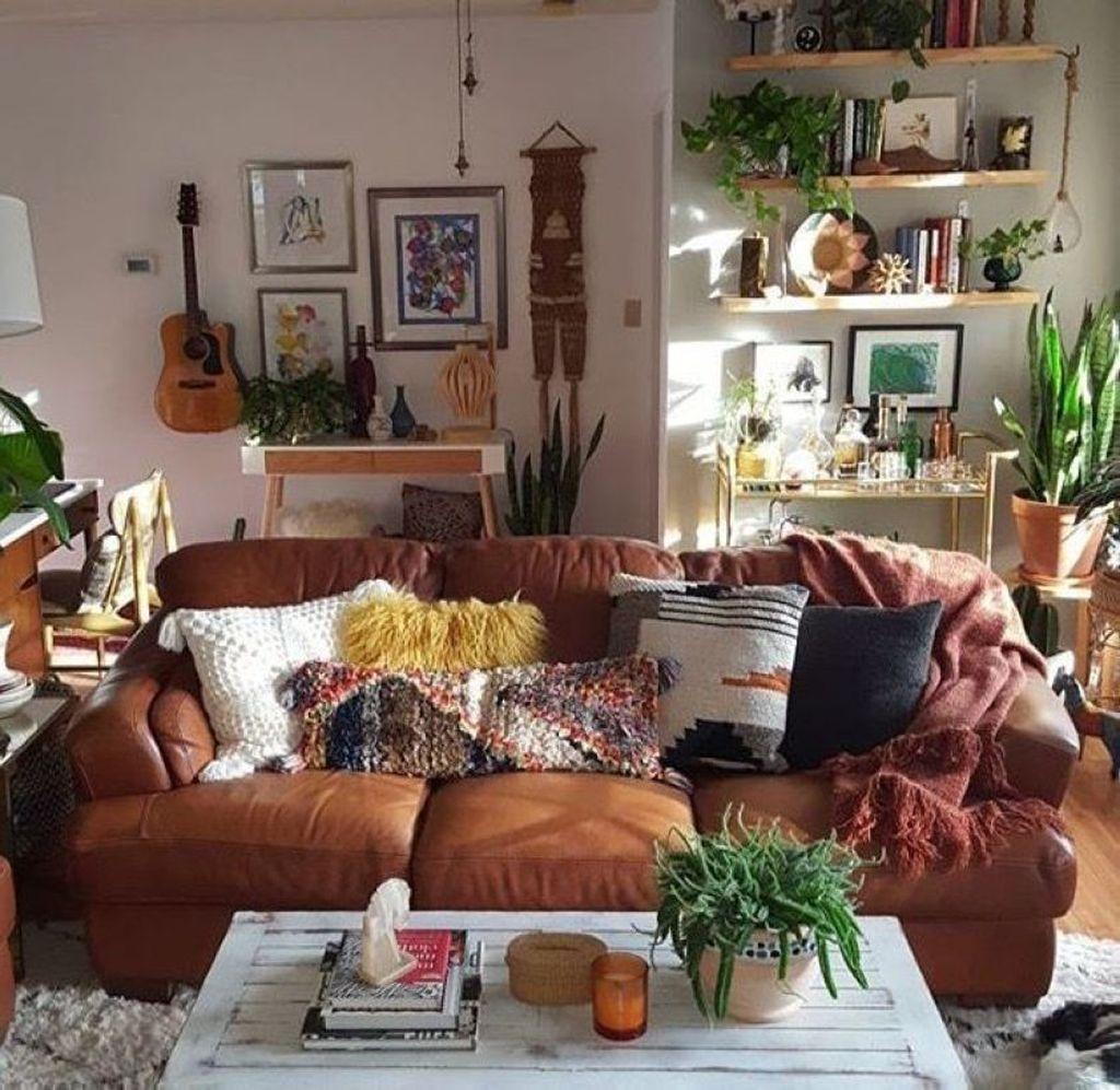 bohemian style living room harley davidson curtains 43 elegant decoration ideas homystyle 42