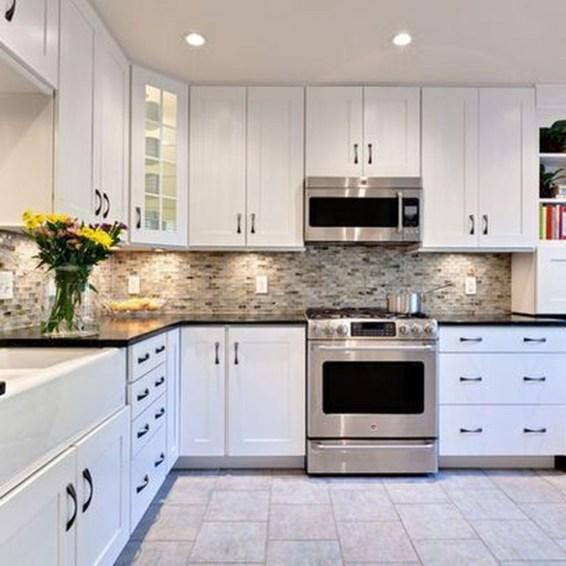 Elegant White Kitchen Cabinets For Your Kitchen 49