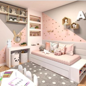 Modern Colorful Bedroom Design Ideas For Your Daughter 07