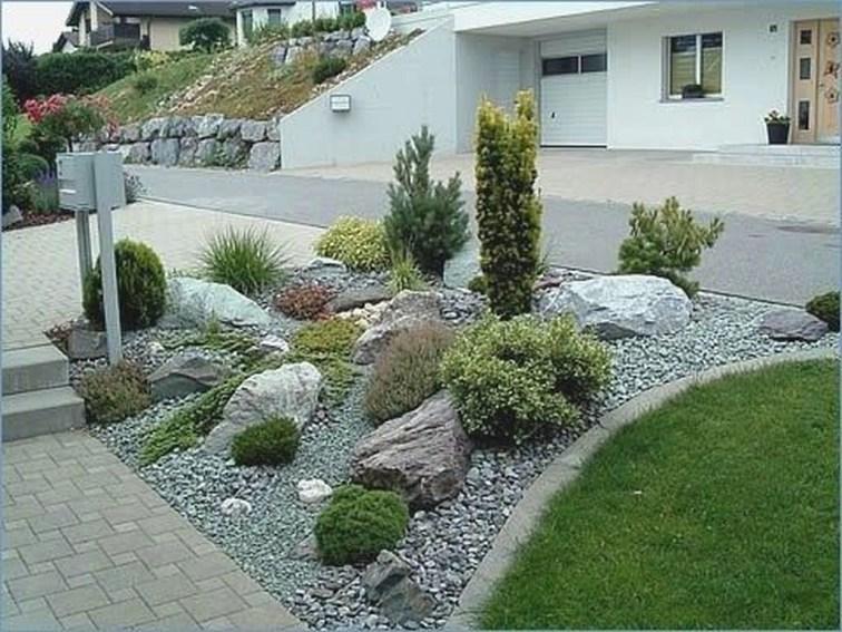 Relaxing Modern Rock Garden Ideas To Make Your Backyard Beautiful 06