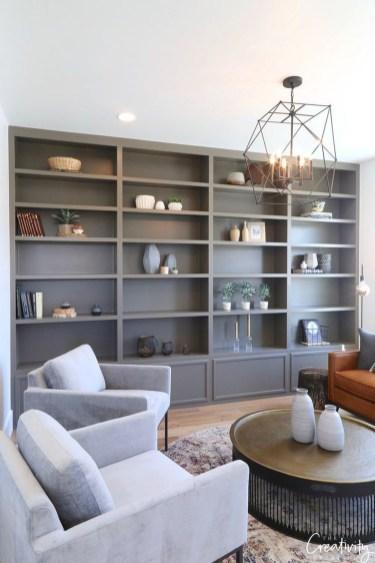 Stylish Bookshelves Design Ideas For Your Living Room 16