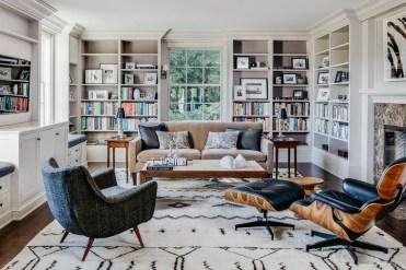Stylish Bookshelves Design Ideas For Your Living Room 24