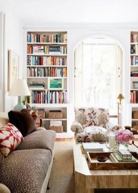 Stylish Bookshelves Design Ideas For Your Living Room 34