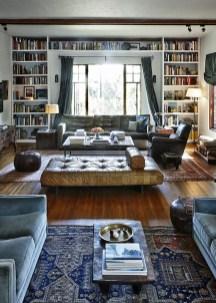 Stylish Bookshelves Design Ideas For Your Living Room 46