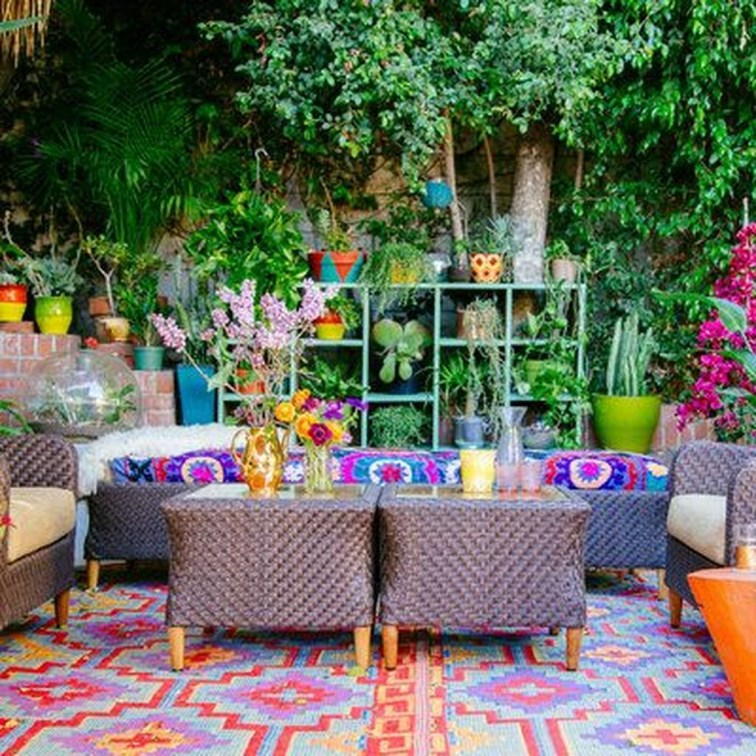 Awesome Bohemian Style Ideas For Outdoor Design 01