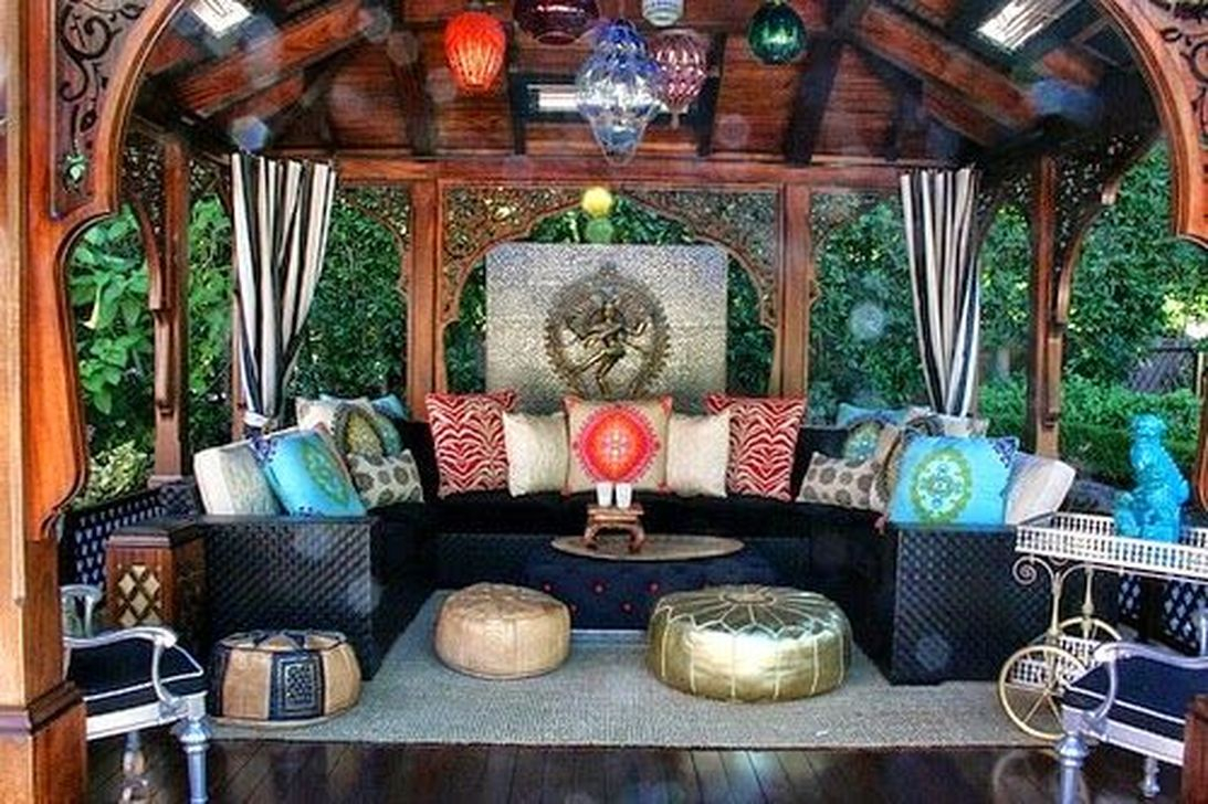 Awesome Bohemian Style Ideas For Outdoor Design 37