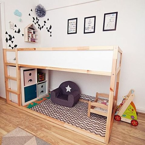 Cool Ikea Kura Beds Ideas For Your Kids Rooms 36