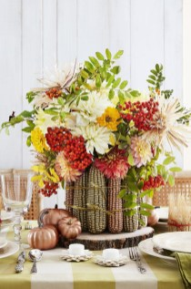 Simple Fall Table Decoration Ideas 20