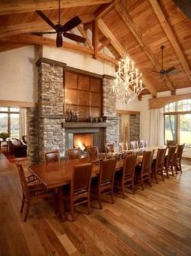 Best Rustic Dining Room Design Ideas 56