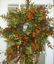 Creative Thanksgiving Front Door Decoration Ideas 13