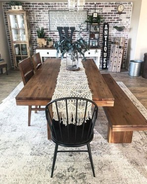 Easy Rustic Farmhouse Dining Room Makeover Ideas 06