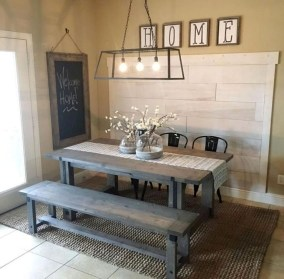 Easy Rustic Farmhouse Dining Room Makeover Ideas 12