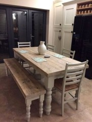 Easy Rustic Farmhouse Dining Room Makeover Ideas 33