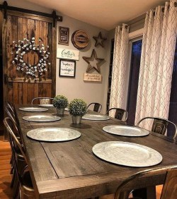 Easy Rustic Farmhouse Dining Room Makeover Ideas 43