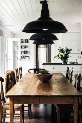 Easy Rustic Farmhouse Dining Room Makeover Ideas 53